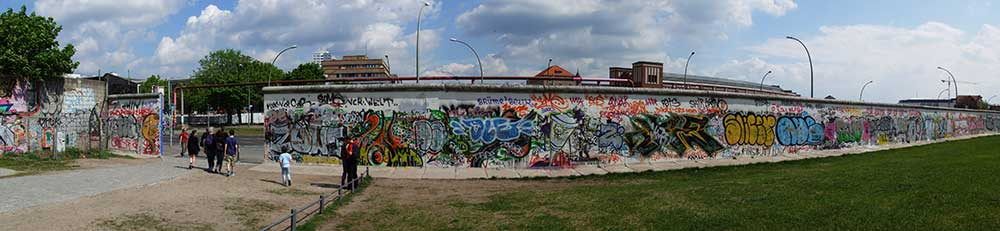 Берлин после Стены (Часть II) Berlin Wall   west side of the East Side Gallery