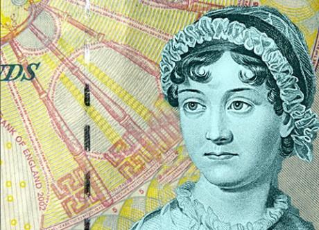 """jane-austen-banknotes Портрет Джейн Остин на 10-фунтовой банкноте """"подретушировали"""", возмущается биограф"""