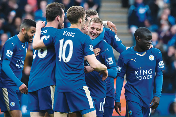 Leicester-City-v-Swansea «Лестер» разгромил «Суонси» в матче 35-го тура премьер-лиги