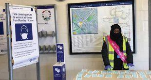 В метро и автобусах Лондона бесплатно раздают маски