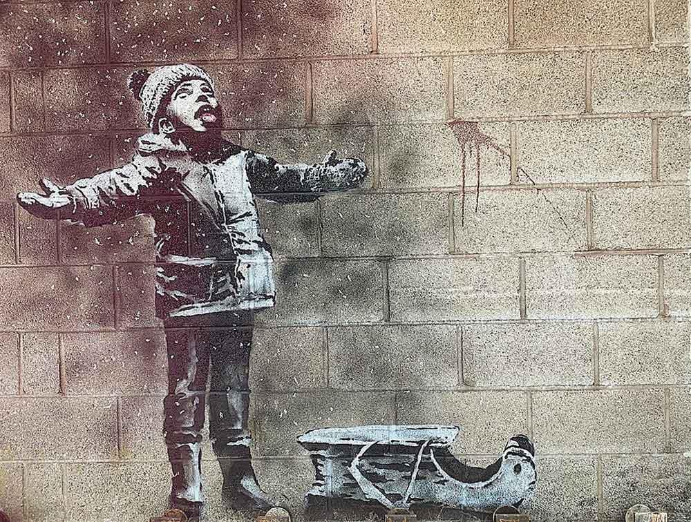 Девочка с хулахупом работы Бэнкси снята со стены и продана за «шестизначную сумму»