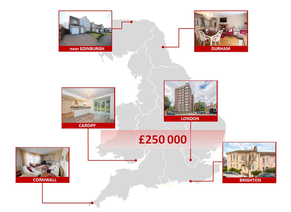 Квартира или особняк? Что можно купить за £250 000 в Великобритании в 2021 году