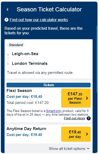 Новая гибкая схема железнодорожных билетов